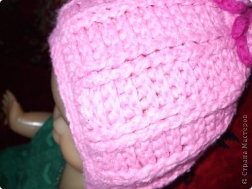 шапочка связана крючком,шарфик на спицах фото 2