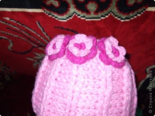 шапочка связана крючком,шарфик на спицах фото 3
