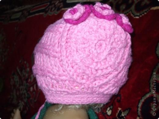 шапочка связана крючком,шарфик на спицах фото 4