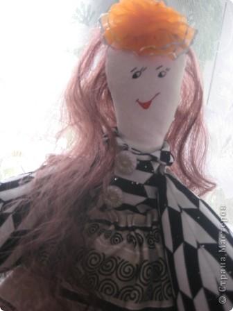 """Такая получилась у меня куколка . Выкройка взята из МК по тряпичным куклам с сайта """"Юлина кукла"""". фото 3"""