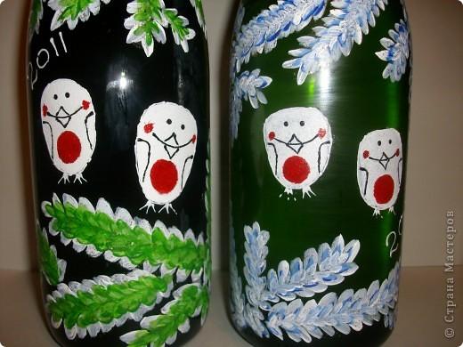"Бутылочки ""снегири"" фото 2"