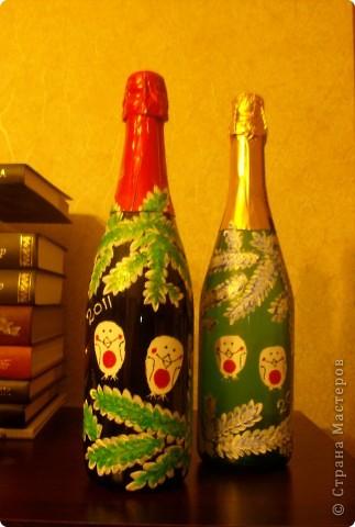 "Бутылочки ""снегири"" фото 5"