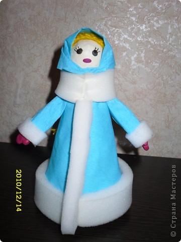 Снегурочка своими руками поделка в детский сад