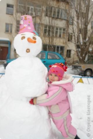 лепили снеговика