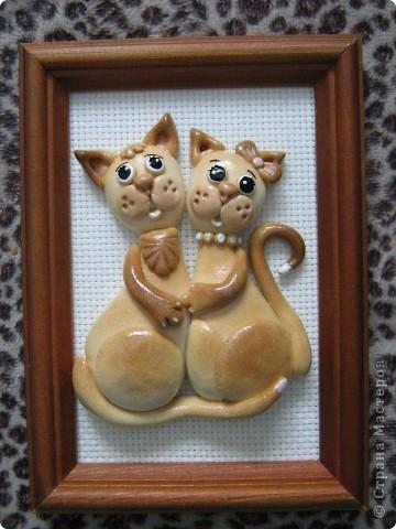 Влюблённые коты))) из той же серии, что и зайцы. фото 2
