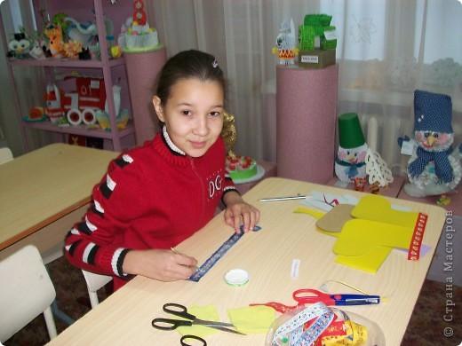 Сегодня провела открытый урок, по изготовлению Новогодней открытки, с девчонками 5-го класса. фото 2
