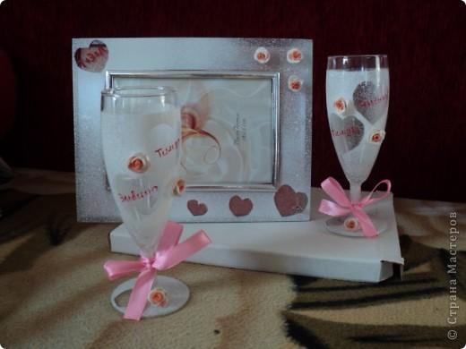 бокалы в подарок на свадьбу подруге сестренки