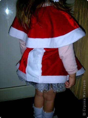 """Новогодний костюм """"Рождественский эльф""""! Пришлось коротать пару вечеров за швейной машинкой!...Очень понравилась одна фотография в инете,вот и решила что-то подобное сотворить. фото 3"""