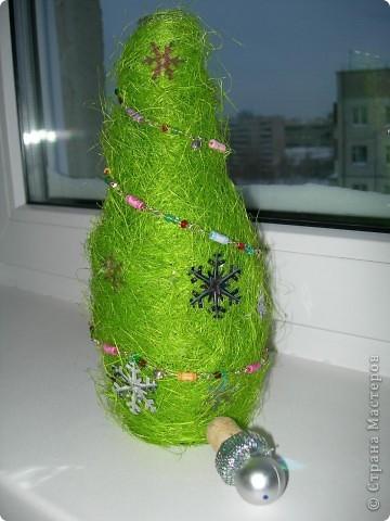 вот такая елка из люффы фото 3