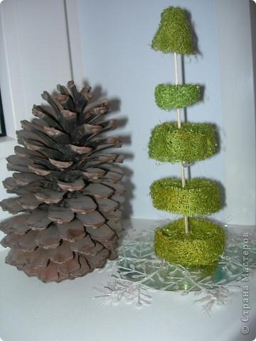 вот такая елка из люффы фото 1