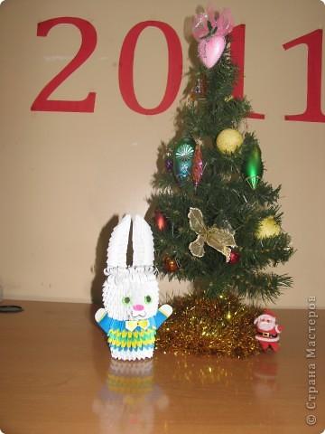 Такого зайчика мы сделали к Новому году в Детский сад!