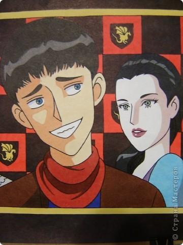 """Этот рисунок сестра нарисовала посмотрев сериал """"Мерлин"""".  фото 3"""