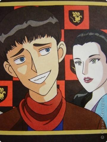 """Этот рисунок сестра нарисовала посмотрев сериал """"Мерлин"""".  фото 6"""