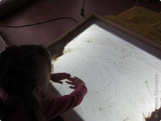Рисуем на песке, рисуем песком. фото 1