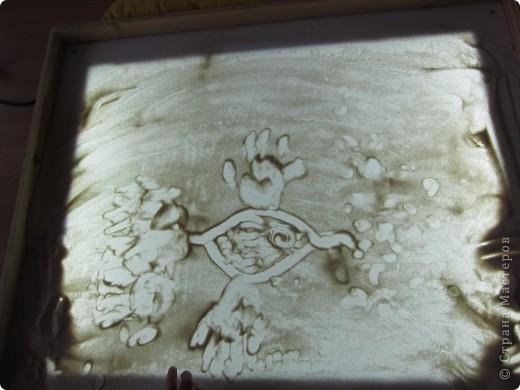 Рисуем на песке, рисуем песком. фото 3