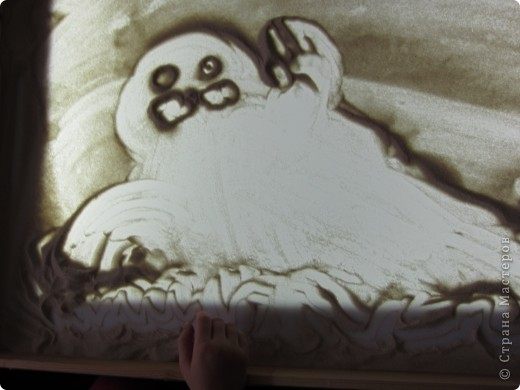 Рисуем на песке, рисуем песком. фото 6