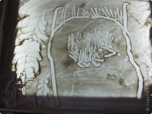 Рисуем на песке, рисуем песком. фото 8