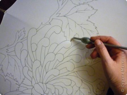 Яркие бабочки и нежные хризантемы на натуральном шёлке.АВТОРСКАЯ РАБОТА.Размер 200/40см.Подшит в ручную . Не линяет и не выгорает фото 3
