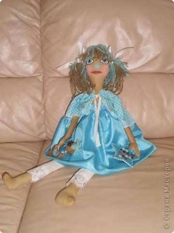 Светлана - кукла примитив с кофейным мишкой. фото 2