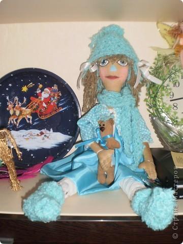 Светлана - кукла примитив с кофейным мишкой. фото 4