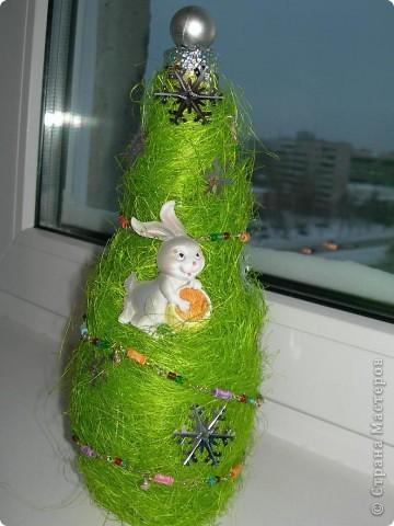 вот такая елка из люффы фото 2