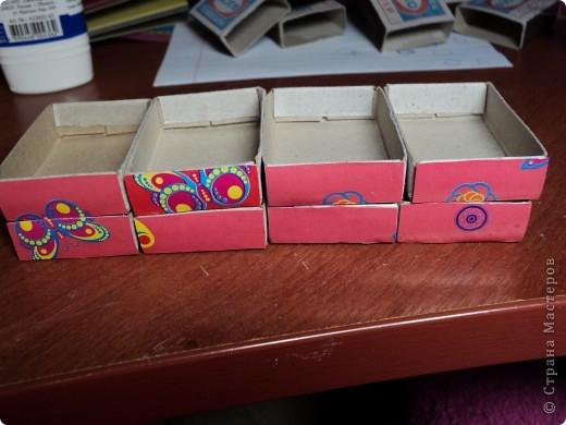 Комодик из спичечных коробков фото 3