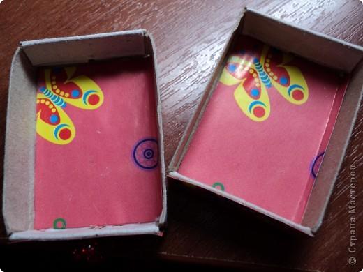 Комодик из спичечных коробков фото 5