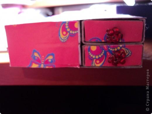 Комодик из спичечных коробков фото 10