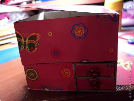 Комодик из спичечных коробков фото 11