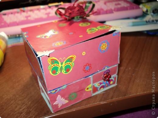 Комодик из спичечных коробков фото 1