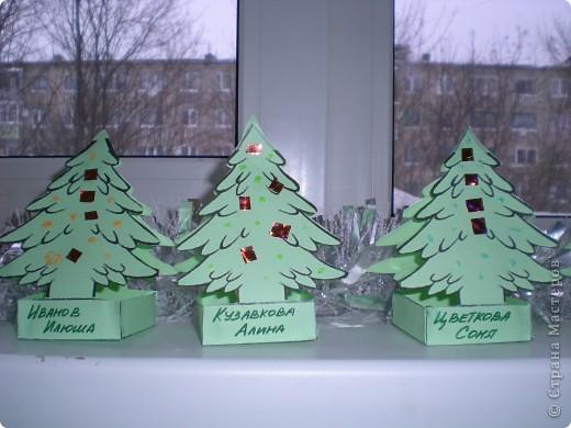 Вот такие ёлочки сделали мои малыши(6лет) для Деда Мороза фото 2