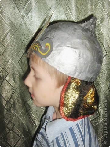 Шлем богатыря для мальчика своими руками фото