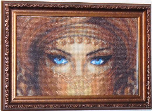 Икона Смоленской Божьей Матери, вышивка бисером фото 5