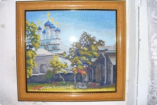 Икона Смоленской Божьей Матери, вышивка бисером фото 2