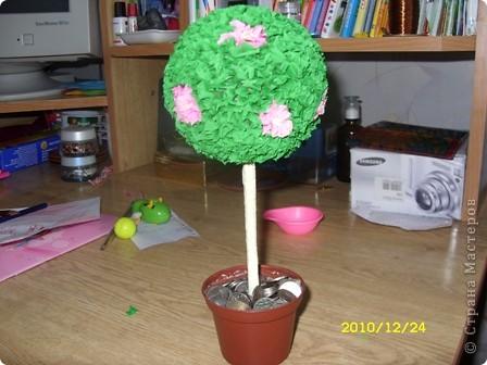 """А вот и моё дерево в технике """"торцевание"""" фото 1"""