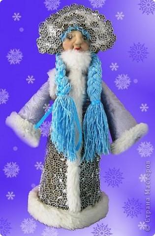 Снегурочка из макарон своими руками