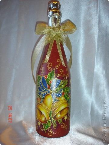 Продолжаю готовиться к празднику...... Лицевая сторона бутылочек. фото 2
