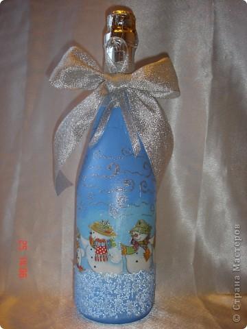 Продолжаю готовиться к празднику...... Лицевая сторона бутылочек. фото 4