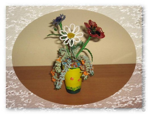 первые пробы сделать цветы