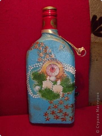 Срочно понадобилась мужу подарочная бутылочка.Сделана за три часа. фото 1