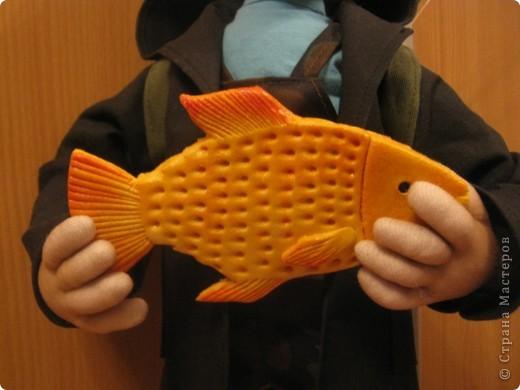Вот и появился на свет очередной рыбак. Сделала его буквально на одном дыхании. Наверное, заказчица оказалась не вредной. фото 4