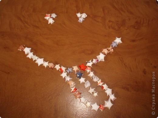 Так как до Нового года осталось совсем чуть-чуть , хочу показать вам мастер класс по объёмным звёздочкам.Может пригодится. фото 1