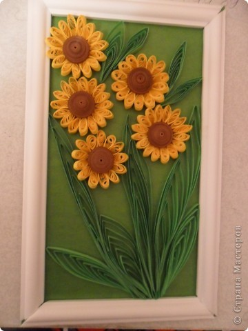 Вот какие цветочки у меня получились, сначала хотела сделать подсолнухи, но потом решила что это ноготки. фото 1