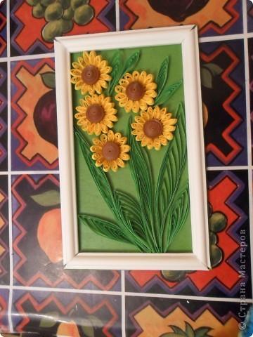Вот какие цветочки у меня получились, сначала хотела сделать подсолнухи, но потом решила что это ноготки. фото 2