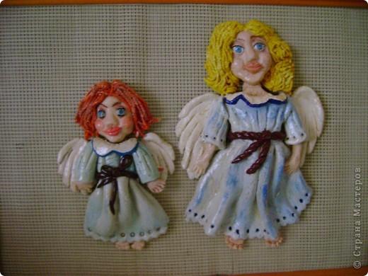 Два прикольных ангелочка.Повторюшка.
