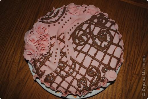 Фруктовый торт с мастикой из маршмеллоу