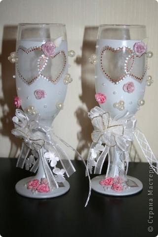 Фужеры на серебряную свадьбу