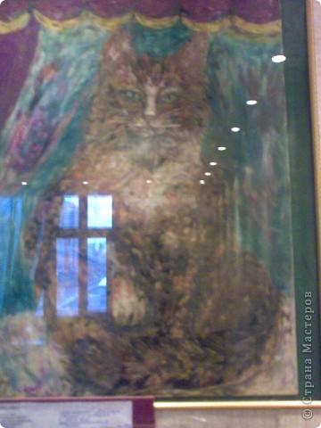 кошка у окошка ! 1 место международного декоративного искусства , техника-пластилинографика фото 1
