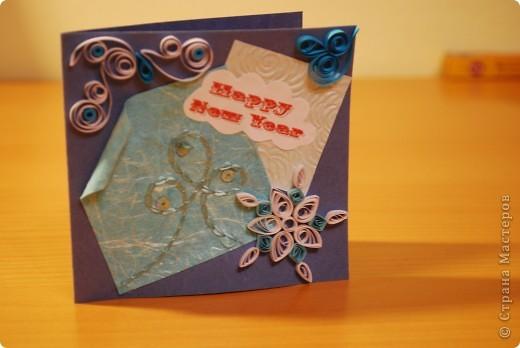 Первые опыты - вот такие получились новогодние открыточки... фото 2