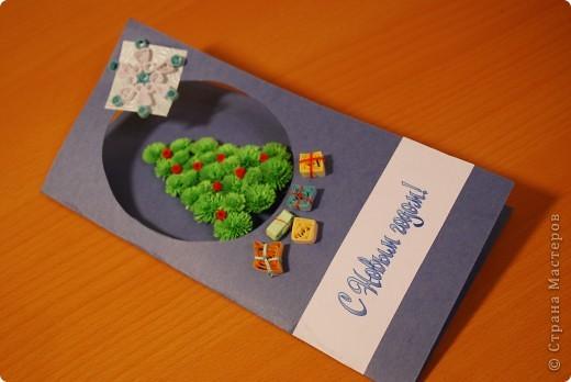 Первые опыты - вот такие получились новогодние открыточки... фото 3